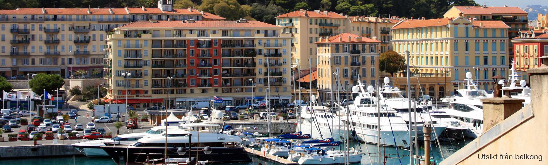 Välkommen till hamnen i Nice