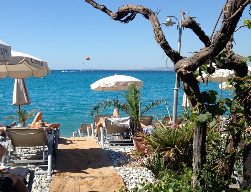 Stränder i och utanför Nice